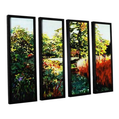 Brushstone Impression Path 4-pc. Floater Framed Canvas Set