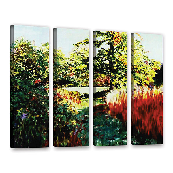 Brushstone Impression Path 4-pc. Gallery Wrapped Canvas Set