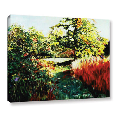 Brushstone Impression Path Gallery Wrapped Canvas