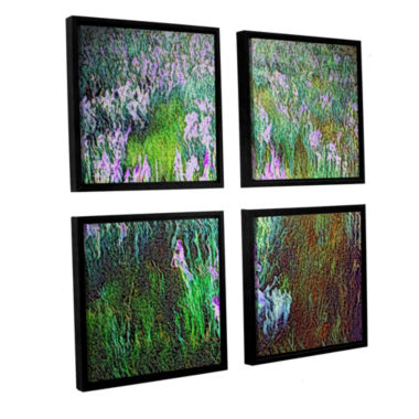 Brushstone In Dream Meadow 4-pc. Floater Framed Canvas Sqare Set