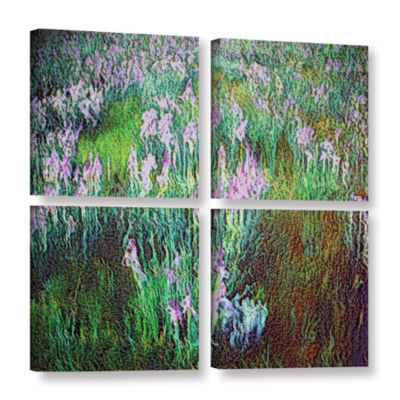 Brushstone In Dream Meadow 4-pc. Gallery Wrapped Canvas Square Set