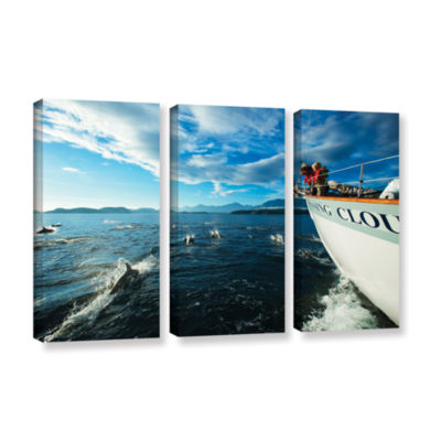 Brushstone In The Fray Dolphins 3-pc. Gallery Wrapped Canvas Set