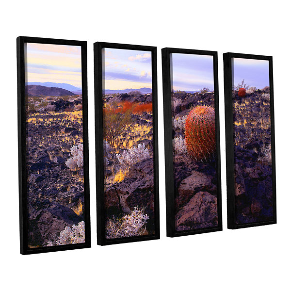 Brushstone In the Mojave 4-pc. Floater Framed Canvas Set