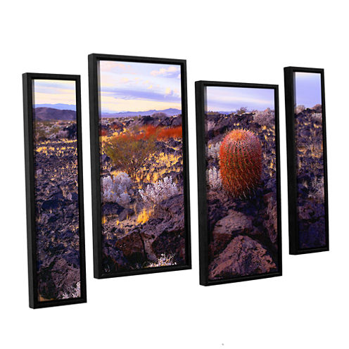 Brushstone In The Mojave 4-pc. Floater Framed Staggered Canvas Wall Art