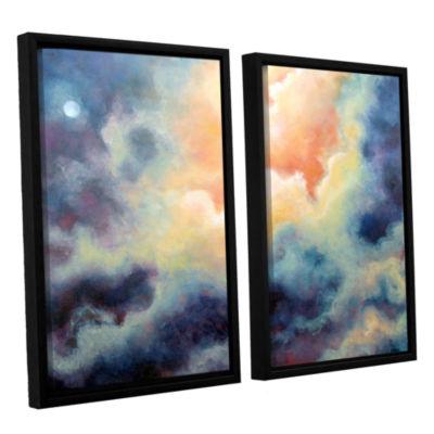 Brushstone In the Pink 2-pc. Floater Framed CanvasSet