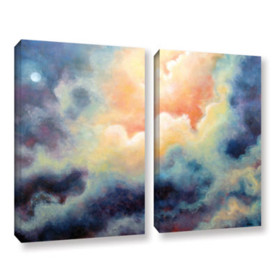Brushstone In the Pink 2-pc. Gallery Wrapped Canvas Set