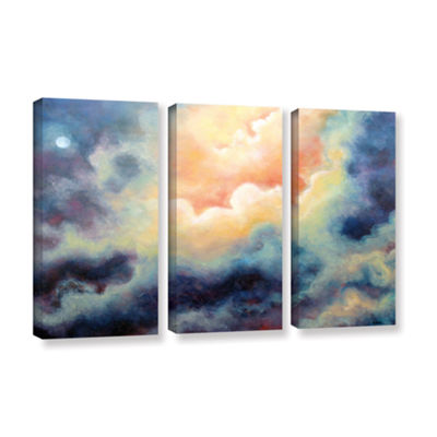 Brushstone In The Pink 3-pc. Gallery Wrapped Canvas Wall Art