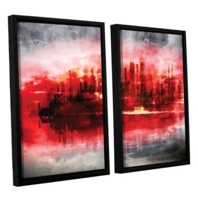 Brushstone Industrial IV 2-pc. Floater Framed Canvas Set