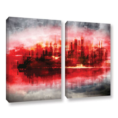 Brushstone Industrial IV 2-pc. Gallery Wrapped Canvas Set
