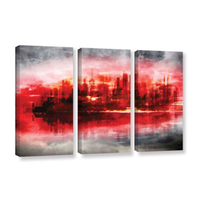 Brushstone Industrial IV 3-pc. Gallery Wrapped Canvas Set