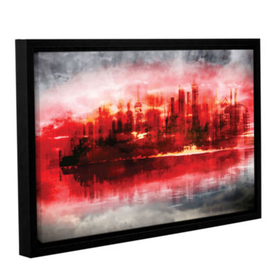 Brushstone Industrial IV Gallery Wrapped Floater-Framed Canvas
