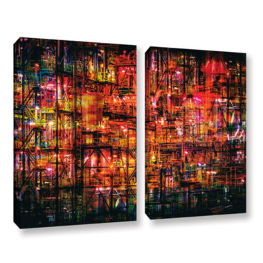 Brushstone Industrial VI 2-pc. Gallery Wrapped Canvas Set