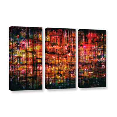 Brushstone Industrial VI 3-pc. Gallery Wrapped Canvas Set