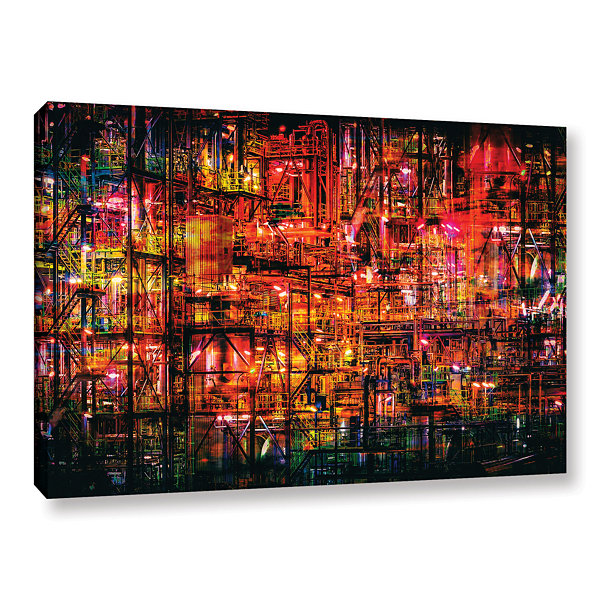 Brushstone Industrial VI Gallery Wrapped Canvas