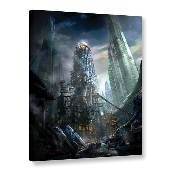 Brushstone Industrialize Gallery Wrapped Canvas