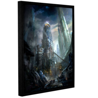 Brushstone Industrialize Gallery Wrapped Floater-Framed Canvas