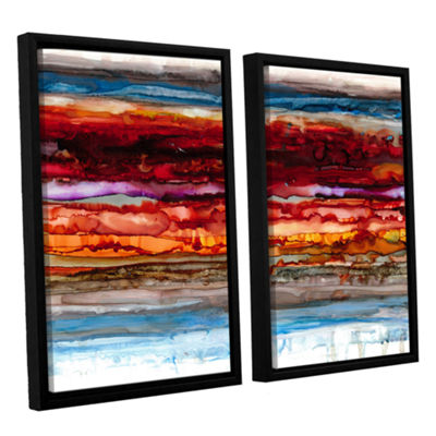 Brushstone Innermost 2-pc. Floater Framed Canvas Set