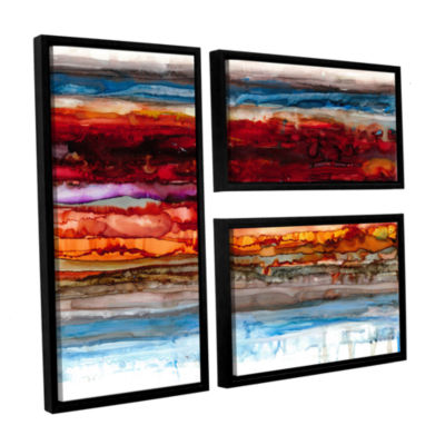 Brushstone Innermost 3-pc. Flag Floater Framed Canvas Wall Art