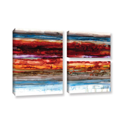 Brushstone Innermost 3-pc. Flag Gallery Wrapped Canvas Wall Art
