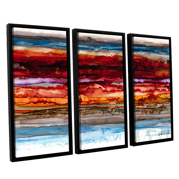 Brushstone Innermost 3-pc. Floater Framed Canvas Set