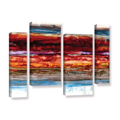 Brushstone Innermost 4-pc. Gallery Wrapped CanvasStaggered Set