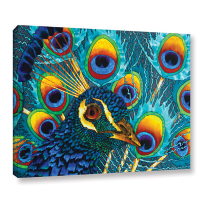 Brushstone Insane Peacock Gallery Wrapped Canvas