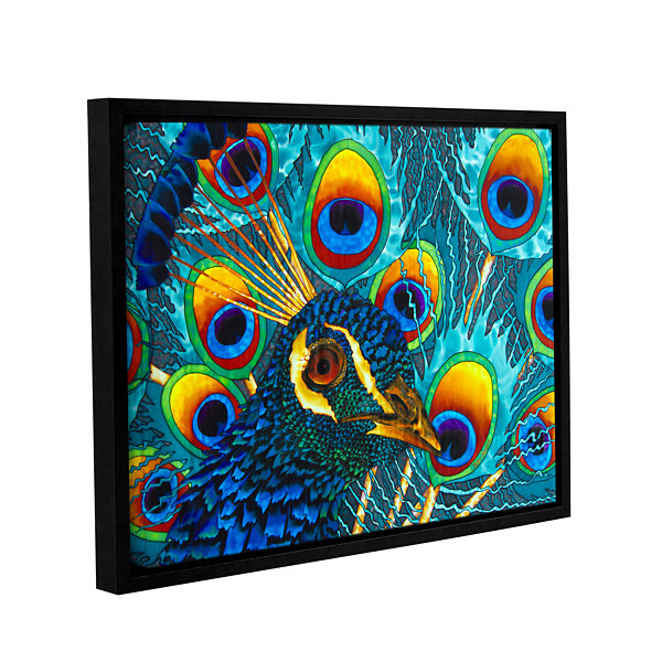 Brushstone Insane Peacock Gallery Wrapped Floater-Framed Canvas