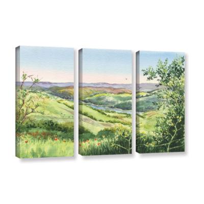 Brushstone Inspiration Point 3-pc. Gallery WrappedCanvas Set