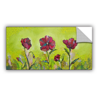 Brushstone Intensity Of The Poppy II Removable Wall Decal