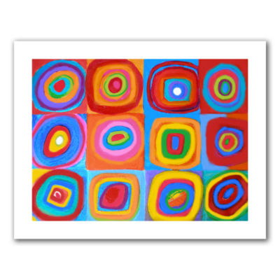 Brushstone Interpretation of Farbstudie Quadrate Canvas Wall Art
