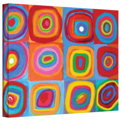 Brushstone Interpretation of Farbstudie Quadrate Gallery Wrapped Canvas