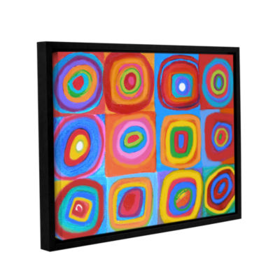 Brushstone Interpretation of Farbstudie Quadrate Gallery Wrapped Floater-Framed Canvas