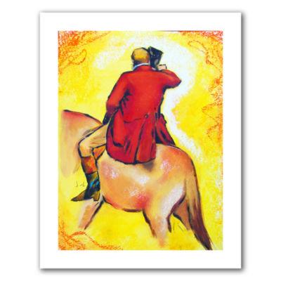 Brushstone Interpretation of The Horseman Canvas Wall Art