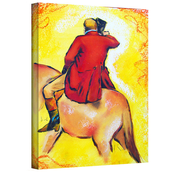 Brushstone Interpretation of The Horseman GalleryWrapped Canvas