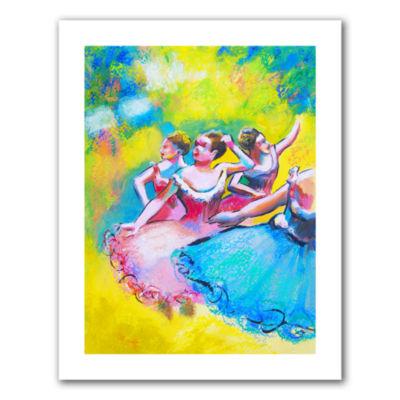 Brushstone Iterpretation of Three Ballerinas Canvas Wall Art