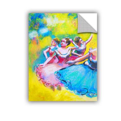 Brushstone Iterpretation of Three Ballerinas Removable Wall Decal