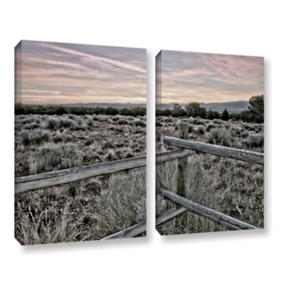 Brushstone Intersection of the Tortoise and Hare 2-pc. Gallery Wrapped Canvas Set