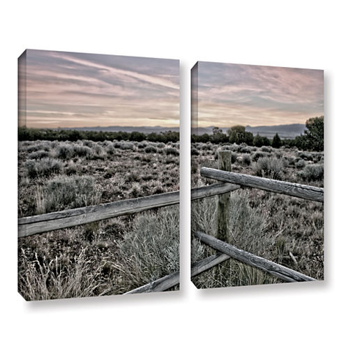 Brushstone Intersection Of The Tortoise And Hare 2-pc. Gallery Wrapped Canvas Wall Art