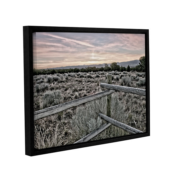 Brushstone Intersection of the Tortoise and Hare Gallery Wrapped Floater-Framed Canvas