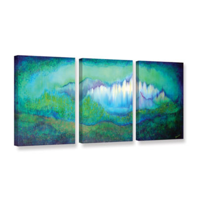 Brushstone Into The Ocean 3-pc. Gallery Wrapped Canvas Set