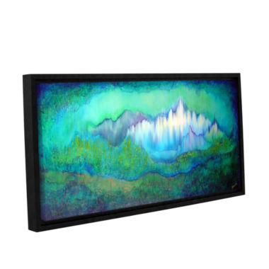 Brushstone Into The Ocean Gallery Wrapped Floater-Framed Canvas