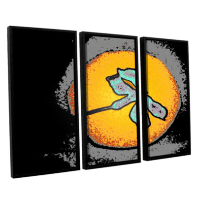 Brushstone Into The Sun 3-pc. Floater Framed Canvas Wall Art
