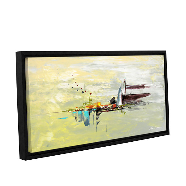 Brushstone Intrigue Gallery Wrapped Floater-FramedCanvas