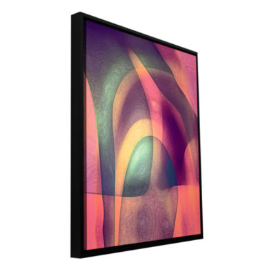 Brushstone Intrusion II Gallery Wrapped Floater-Framed Canvas