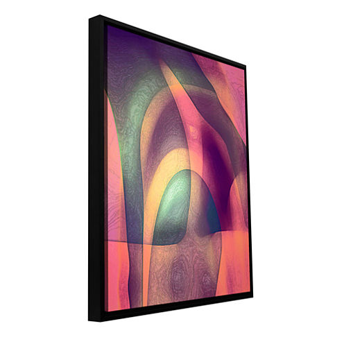 Brushstone Intrusion II Gallery Wrapped Floater-Framed Canvas Wall Art