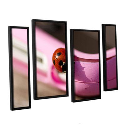 Brushstone Iphonebird 4-pc. Floater Framed CanvasStaggered Set