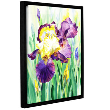 Brushstone Iris 1 Gallery Wrapped Floater-Framed Canvas