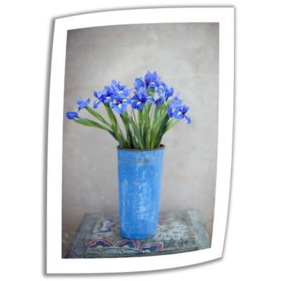 Brushstone Iris Flowers Canvas Wall Art