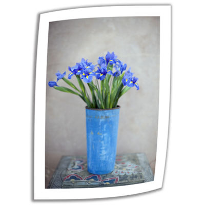 Brushstone Iris Flowers Canvas Wall Art