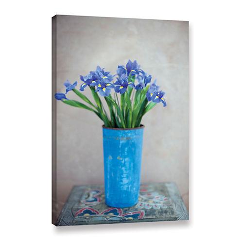 Brushstone Iris Flowers Gallery Wrapped Canvas Wall Art